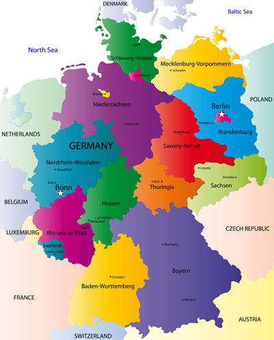 About Map of Germany - The Germany Map Website