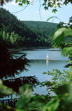 Okertalsperre in the Harz Mountains