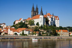 Albrechtsburg castle on the Elbe River, Meissen, Germany