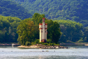 old castle in the Rhine River valley
