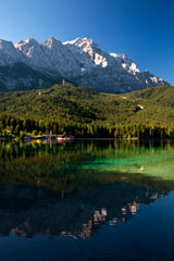 Mount Zugspitz and Lake Eibsee