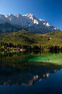 Mount Zugspitz and Lake Eibsee